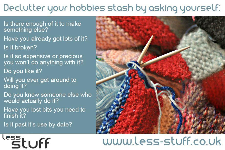 declutter hobbies