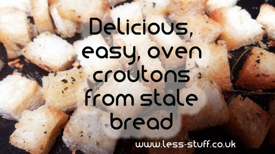 herby oven croutons recipe