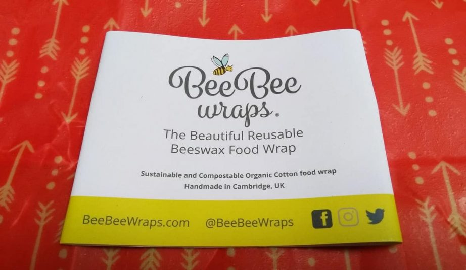 Bee Bee Wraps and label