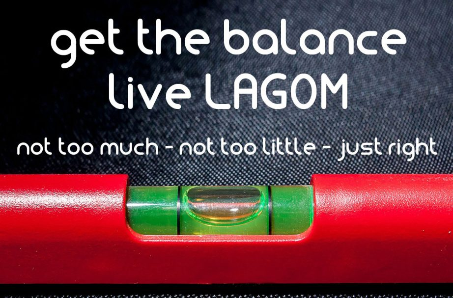 Get the balance Live Lagom poster