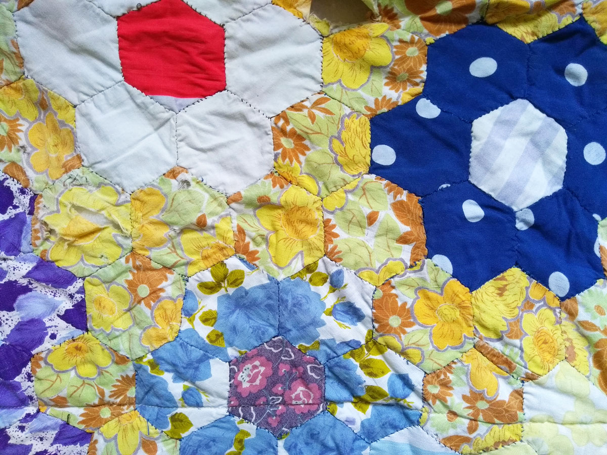 My 1970's patchwork quilt