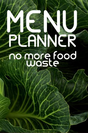 Menu Planner - no more food waste Paperback