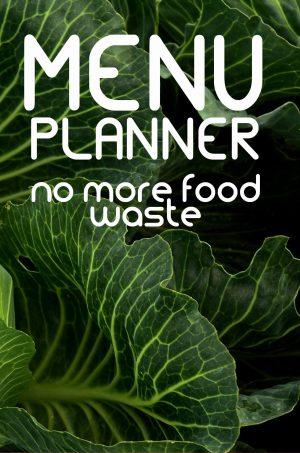 Menu Planner - no more food waste Paperback