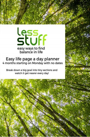 Easy life page a day planner (4 months, undated)
